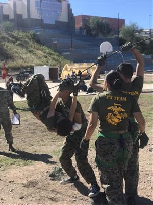 JROTC competing at Raider Challenge